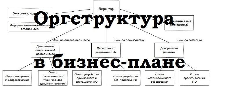 организационная структура в бизнес плане