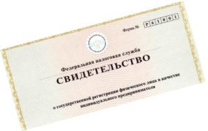 регистрация ип - пошаговая инструкция - пример свидетельства